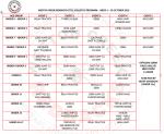 29 October Program of events